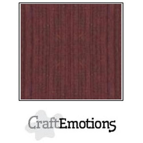 CraftEmotions linnenkarton 10 vel mahoniebruin 27x13,5cm  250gr  / LHC-78