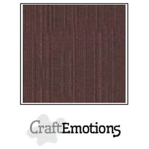 CraftEmotions linnenkarton 10 vel koffie 27x13,5cm  250gr  / LHC-75
