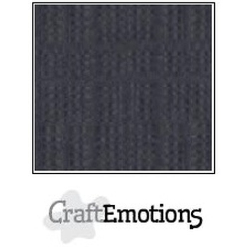 CraftEmotions linnenkarton 10 vel antraciet 27x13,5cm  250gr  / LHC-72