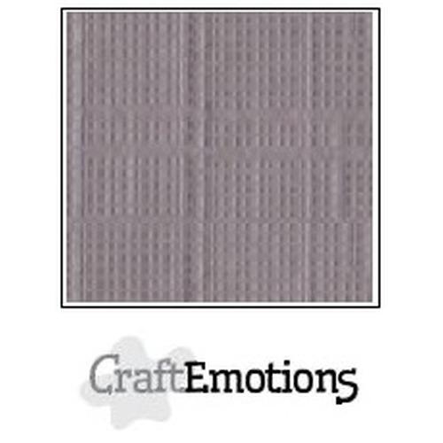 CraftEmotions linnenkarton 10 vel zilvergrijs 27x13,5cm  250gr  / LHC-73