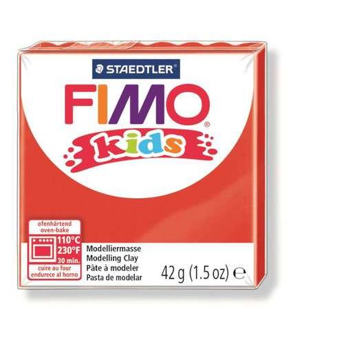 Fimo kids boetseerklei 42g rood