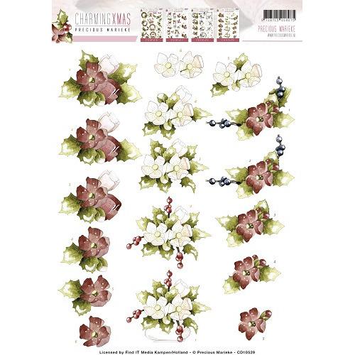 3D Knipvel - Precious Marieke - Charming Xmas - Flower Arrangement