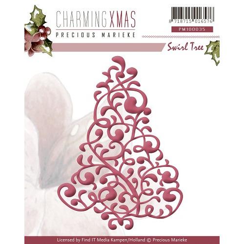 Die - Precious Marieke - Charming Xmas - Swirl Tree