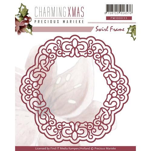 Die - Precious Marieke - Charming Xmas - Swirl Frame