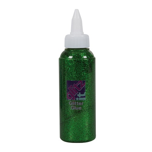 Glitter Glue 120ml - Field Green