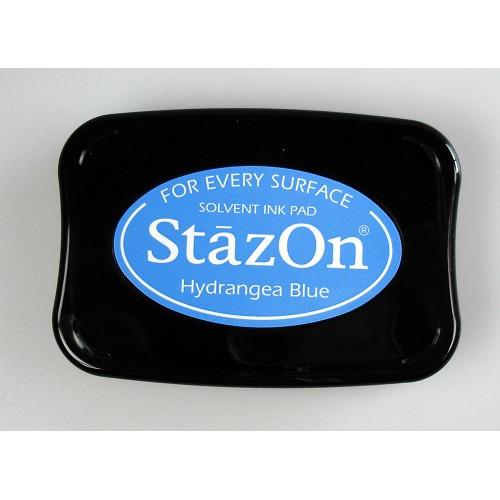 Stazon Ink pad Hydrangea blue