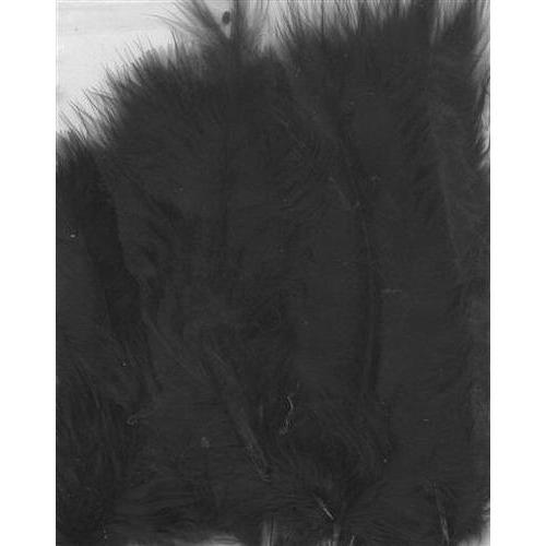 1 ST (1ST) Marabou veren zwart 15 ST