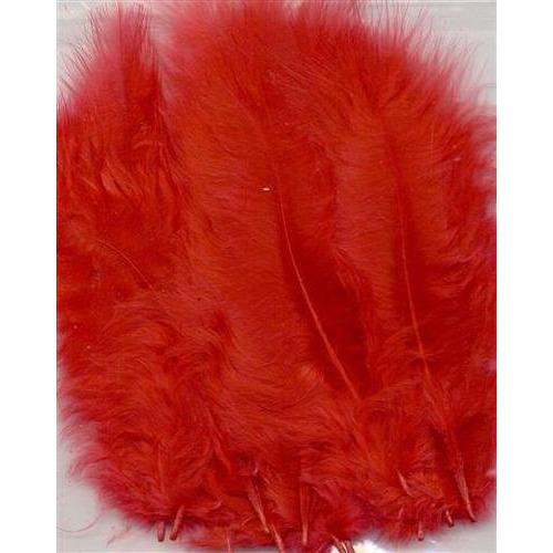 1 ST (1ST) Marabou veren rood 15 ST