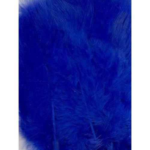 1 ST (1ST) Marabou veren kobalt blauw 15 ST