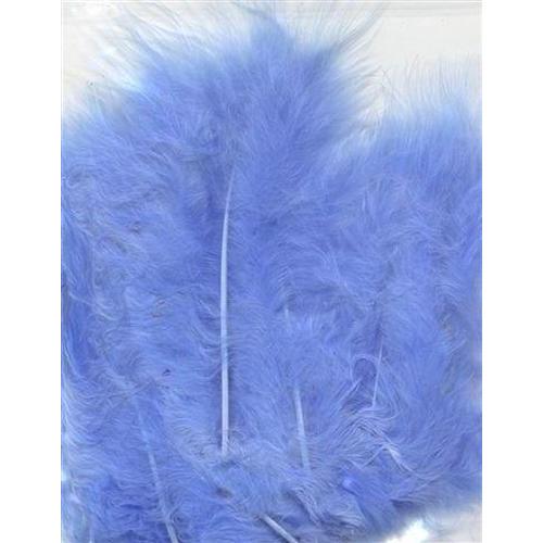 1 ST (1ST) Marabou veren blauw 15 ST
