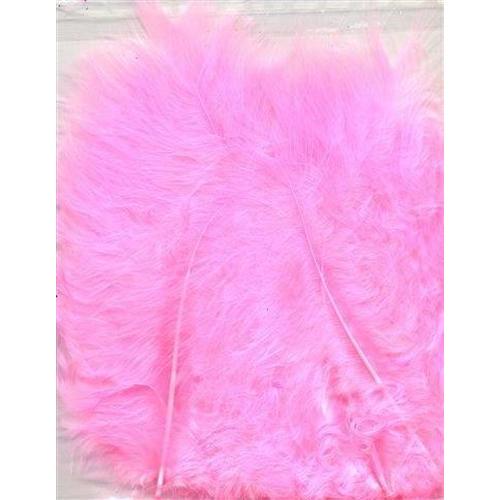 1 ST (1ST) Marabou veren roze 15 ST