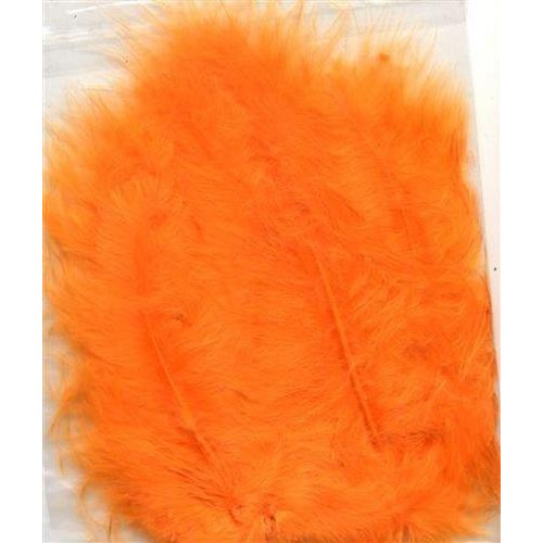 1 ST (1ST) Marabou veren oranje 15 ST