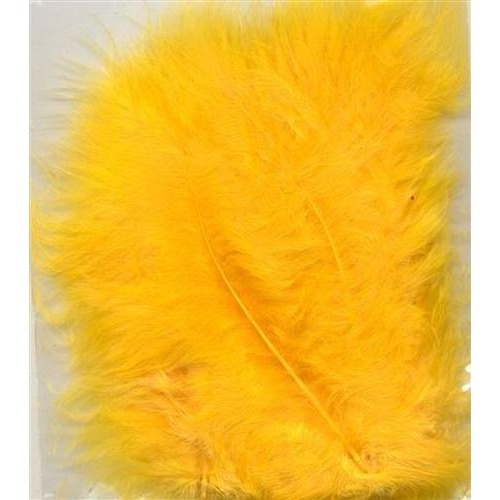 1 ST (1ST) Marabou veren geel 15 ST