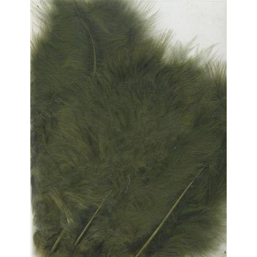1 ST (1ST) Marabou veren olijf 15 ST
