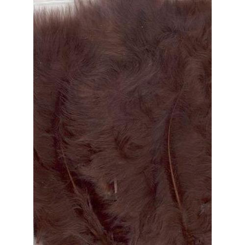 1 ST (1ST) Marabou veren bruin 15 ST