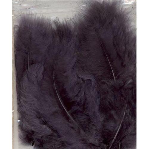 1 ST (1ST) Marabou veren grijs 15 ST