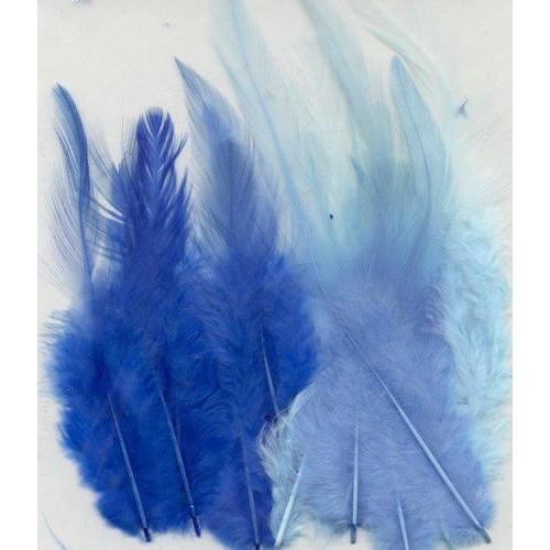 1 ST (1ST) Veren blauw mix 9-15 cm 15 ST