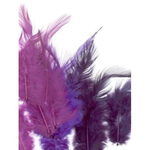 1 ST (1ST) Veren paars mix 9-15 cm 15 ST