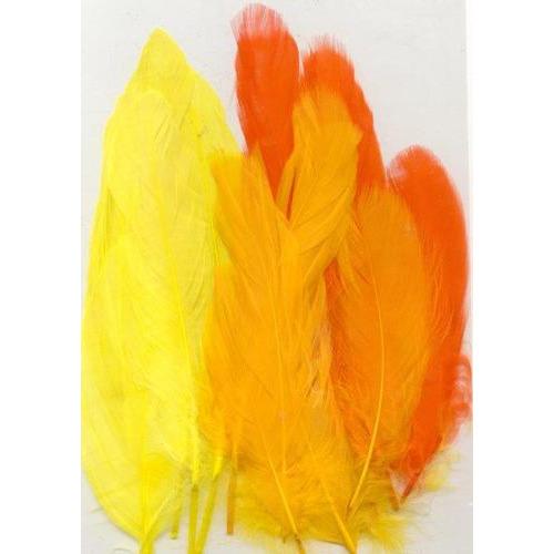 1 ST (1ST) Veren geel oranje mix 12,5-17,5 cm 15 ST