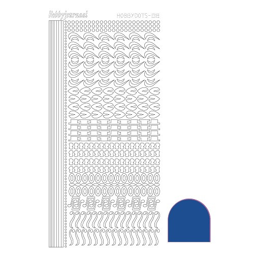 Hobbydots sticker - Mirror Blue