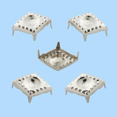 Decoratieve brads IX, buidel met 20 st, 10 x 7 mm, zink, nikkelvrij, zilver
