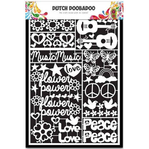 Dutch Doobadoo Dutch Paper Art Flower Power A5 472.948.032 (new 07-2015)