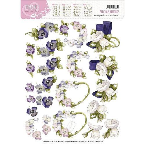 3D Knipvel - Precious Marieke - Romance - Flowers
