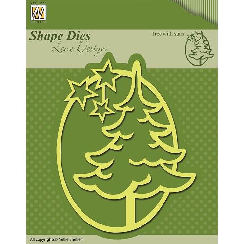 Shape Dies Christmas Tree with stars