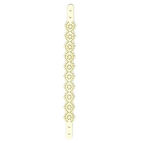 Band Lace imitatieleren armband beige 21x1,8 cm 1 ST 12313-1302