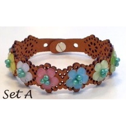 Lace flower - armbandset A incl lijm 12347-47SET A