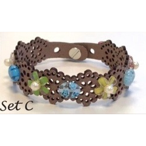 Lace flower - armbandset C incl lijm 12347-47SET C