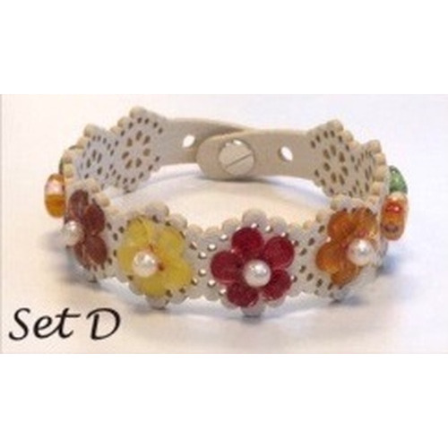 Lace flower - armbandset D incl lijm 12347-47SET D