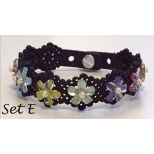 Lace flower - armbandset E incl lijm 12347-47SET E