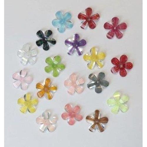 Bloemen resin - bloesem kleuren mix 13mm 18ST 12347-4760