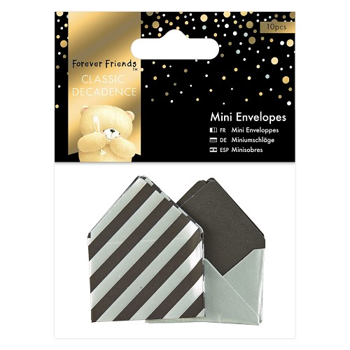 Mini Envelopes (10pcs) - Forever Friends - Classic Decadence - Silver