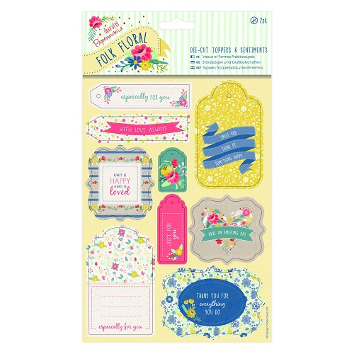 Die-cut Toppers & Sentiments (2pk) - Folk Floral