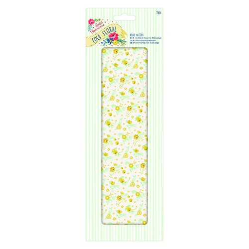 Deco Sheets (3pcs) - Folk Floral - Yellow Wildflowers
