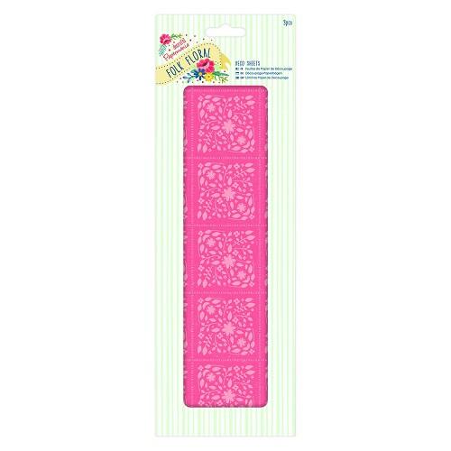 Deco Sheets (3pcs) - Folk Floral - Coral Folk Floral