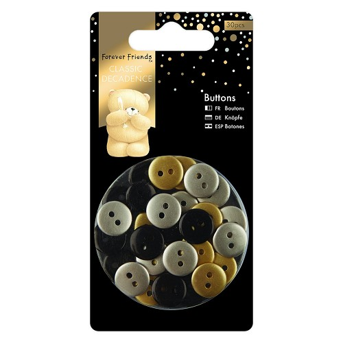 Buttons (30pcs) - Forever Friends - Classic Decadence