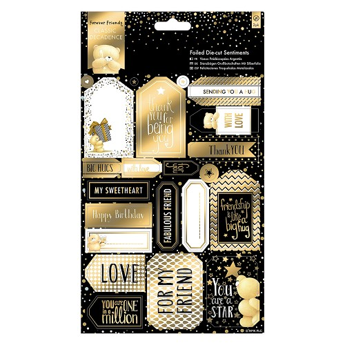Die-cut Sentiments Foiled (2pk) - Forever Friends - Classic Decadence