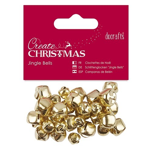 Jingle Bells (30pcs) - Gold - Assorted Sizes