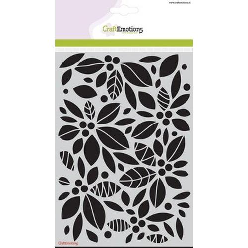 CraftEmotions Mask stencil - achtergrond bloemen A5 new 08-15