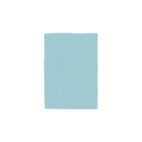 RBC007 Basic Collection A4 Turquoise Stripes
