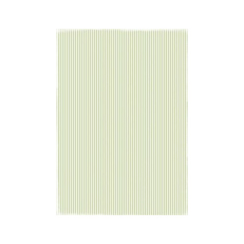 RBC011 Basic Collection A4  Lightgreen stripe