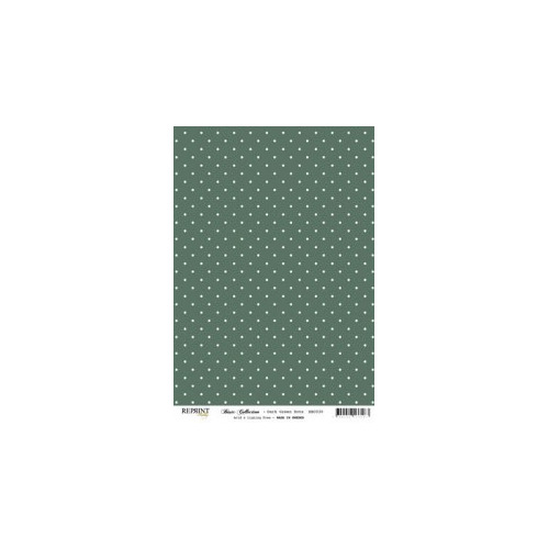 RBC030 Basic Collection A4 Darkgreen Dots