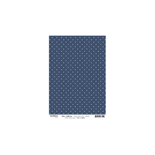RBC037 Basic Collection A4 Dark Blue Dots