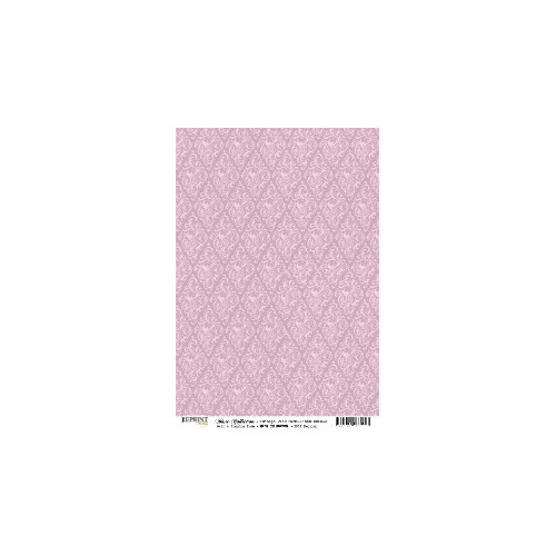 RBC062 Basic Collection A4  Vintage Pink Medaillons