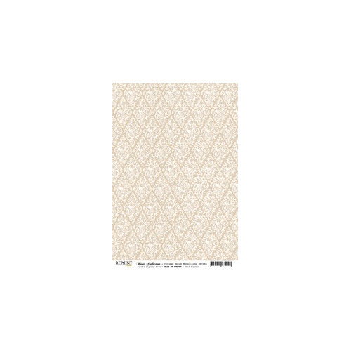 RBC065 Basic Collection A4  Vintage Beige Medaillons