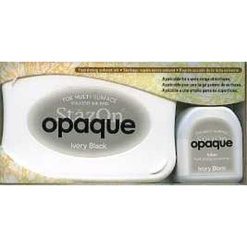 Stazon inktkussen set opaque Ivory black 1 PK SZ-000-182