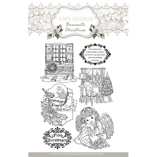 Clearstamp - Amy Design - Brocante Christmas